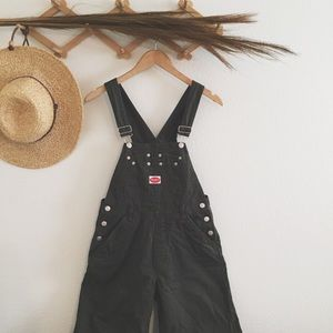 Vintage green long overalls